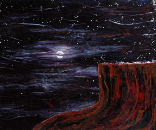 Desert Moon 16 x 20